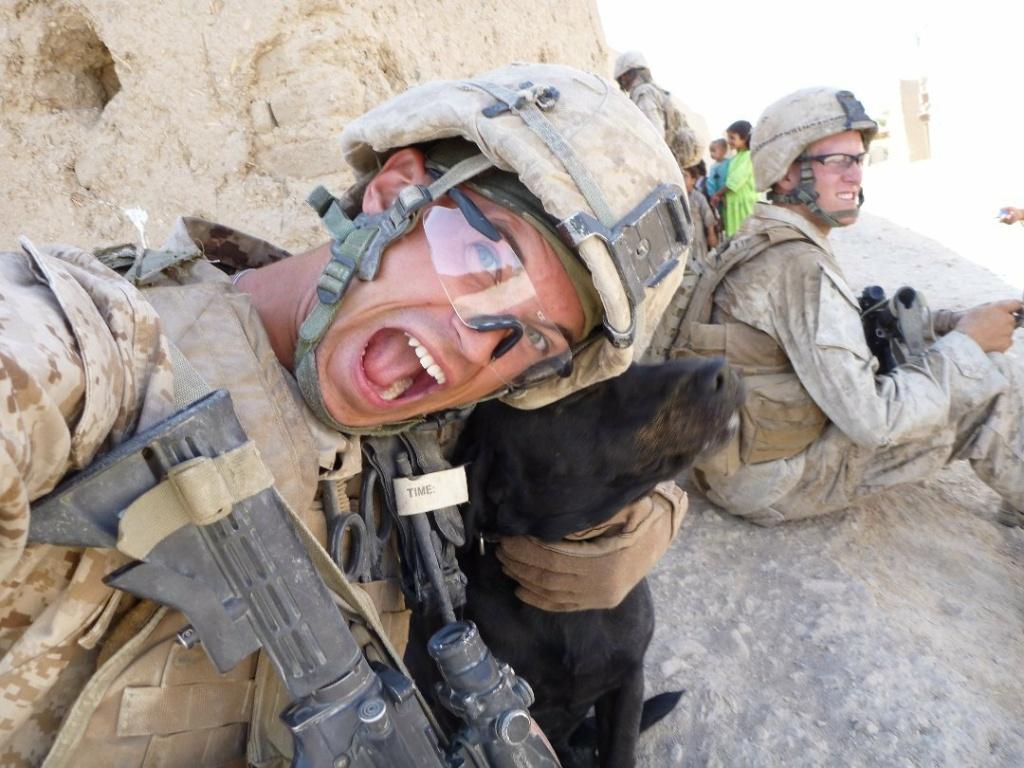 Marine veteran John Motter in Afghanistan.