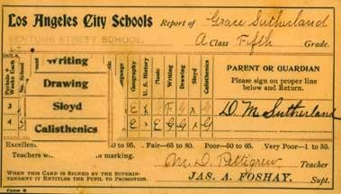 A report card from 1896 is just one of more than 30,000 items archived within LA Unified's Art and Artifact Collection.