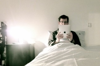 Using interactive technology right before bed could lead to some restless nights.