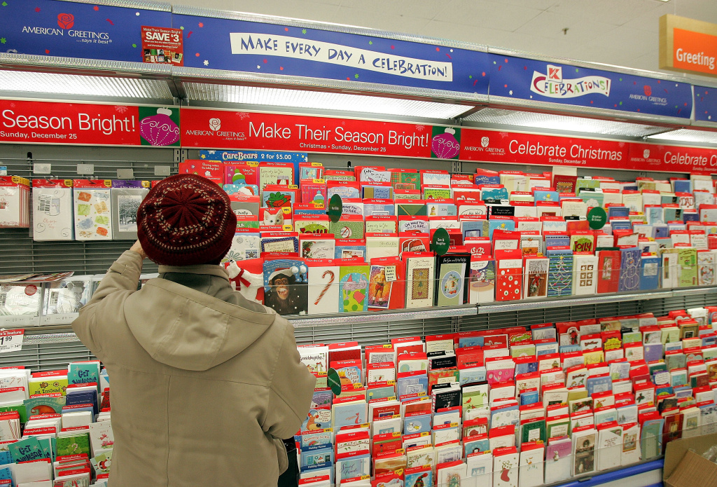 Florence Papak shops for Christmas cards in a Kmart store December 19, 2005 in Norridge, Illinois.