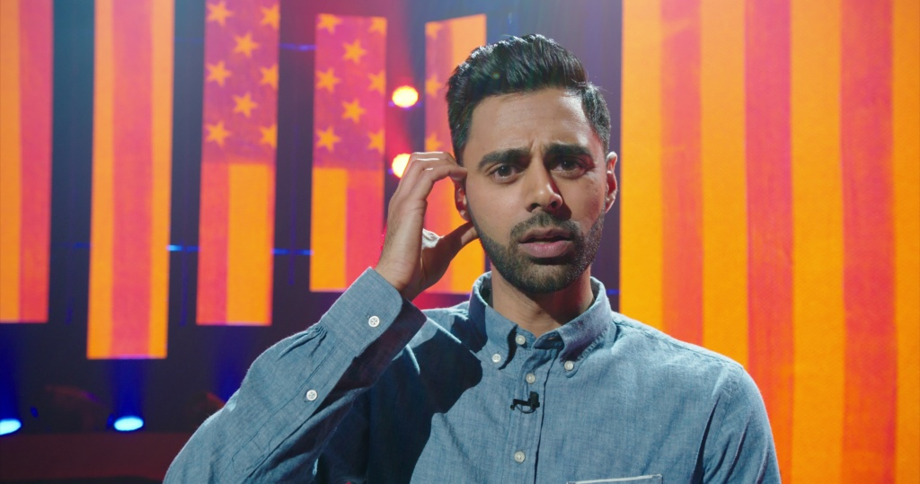 Hasan Minhaj in his Netflix comedy special