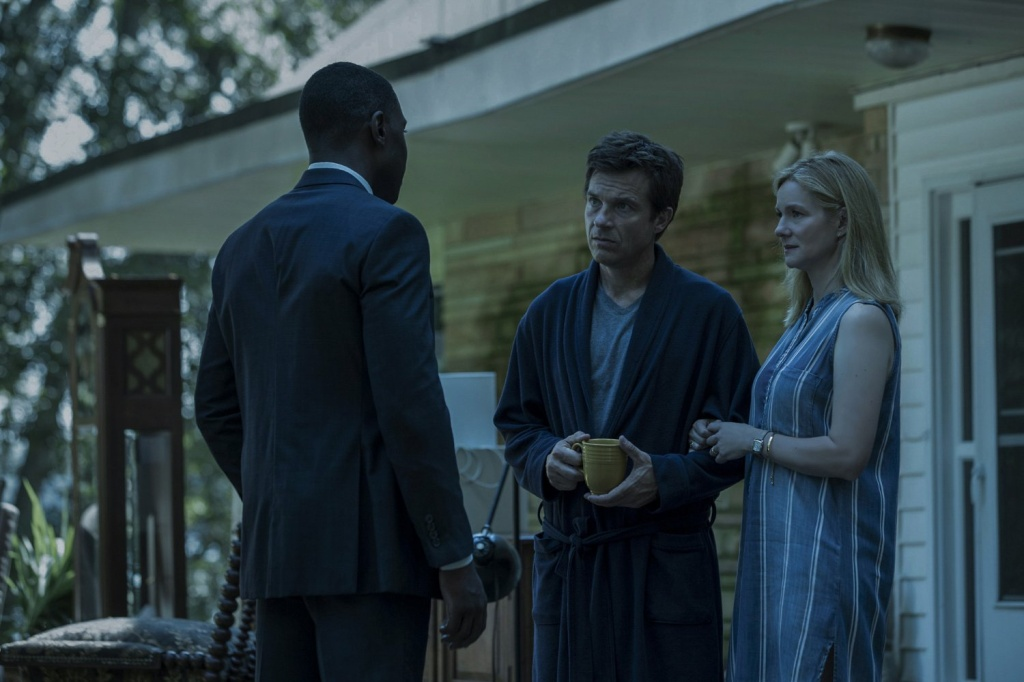 Jason Bateman (center), Laura Linney, and McKinley Belcher III in season 2 of Netflix's