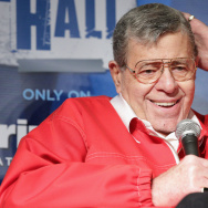 Comedian Jerry Lewis participates in the SiriusXM Town Hall at The Friars Club on June 4, 2014 in New York City.