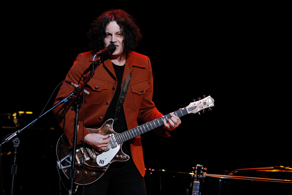 Jack White performs during Brendan Benson and Friends at the Ryman Auditorium on December 18, 2013 in Nashville, Tennessee.