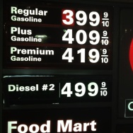 Gasoline prices at $4 a gallong
