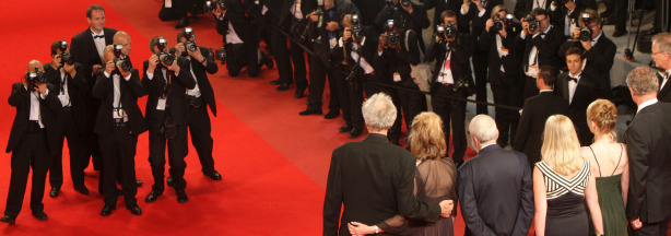 Actor Jim Broadbent with actress Lesley Manville, director Mike Leigh, producer Georgina Lowe and actress Ruth Sheen attend the 'Another Year' Premiere at the Palais des Festivals during the 63rd Annual Cannes Film Festival on May 15, 2010 in Cannes, France.