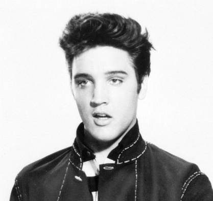 A young Elvis in Jailhouse Rock in 1957