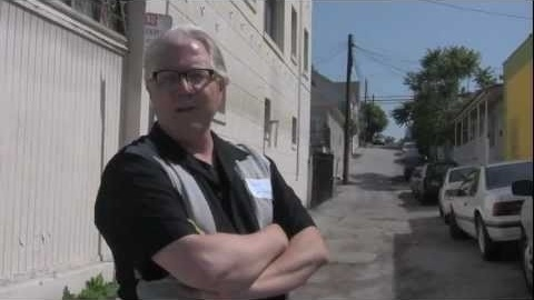 Once a year, the Los Angeles tour company Esotouric makes a very special excursion - CRAWLING DOWN CAHUENGA; TOM WAITS' L.A. In this brief clip from the 2011 tour, host David Smay shows off the unassuming Echo Park alley where legendary cinematographer Haskell Wexler shot Waits'