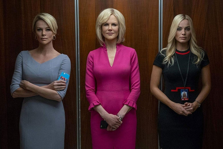 (L-R) Charlize Theron, Nicole Kidman and Margot Robbie star in