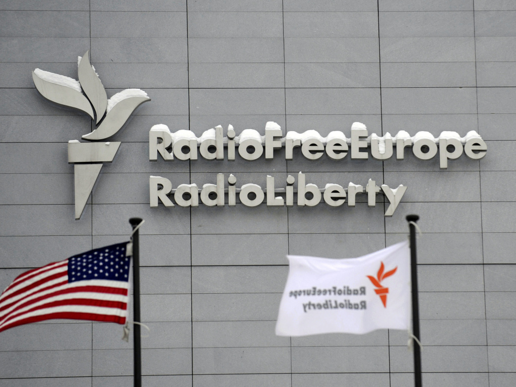 A purge at the U.S. Agency for Global Media has fueled concerns that broadcasters like Radio Free Europe will be turned into distributors of propaganda on behalf of the Trump administration. Above, the headquarters of Radio Free Europe/Radio Liberty in Prague in 2010.