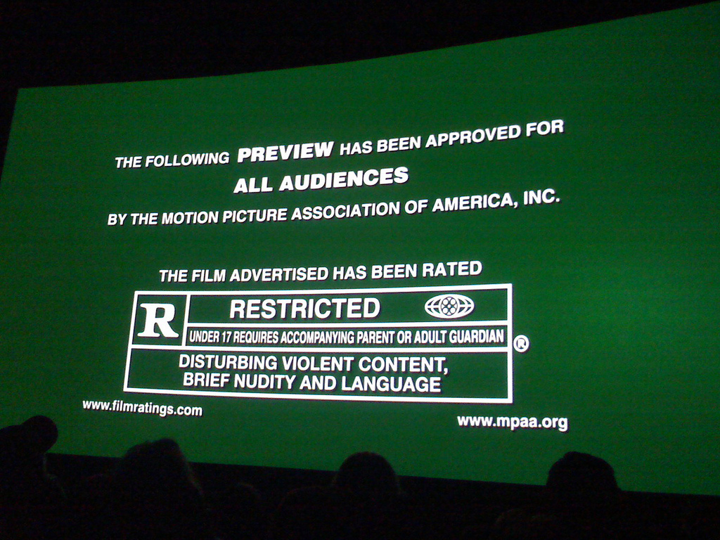 MPAA Preview Trailer Rated R Rating