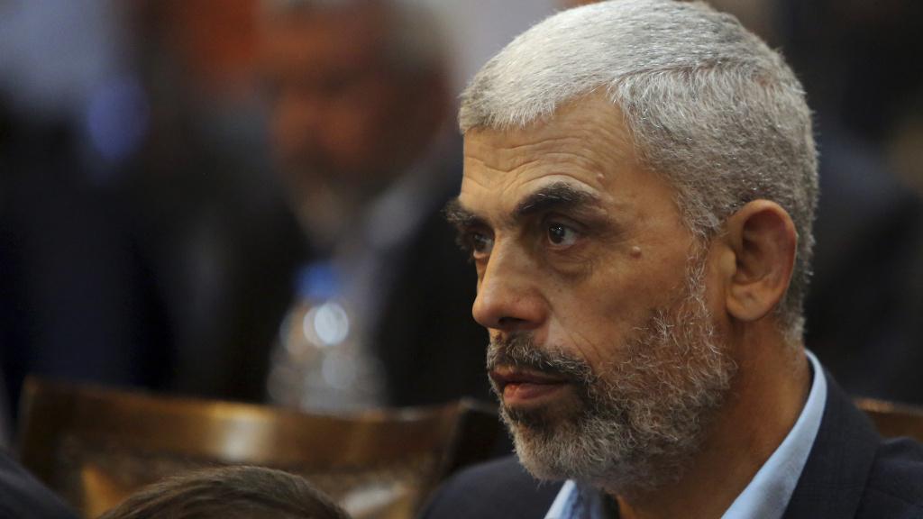 Yehiya Sinwar, Hamas' leader in Gaza, has tested positive for the coronavirus. Here he's photographed in 2017.