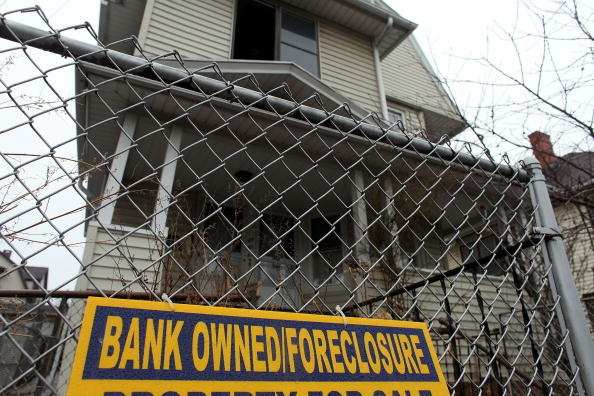 File photo: a foreclosure of a home. The dismal housing market has the FHA on the ropes.