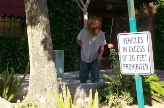 A photograph of Kelly Thomas in downtown Fullerton, CA.