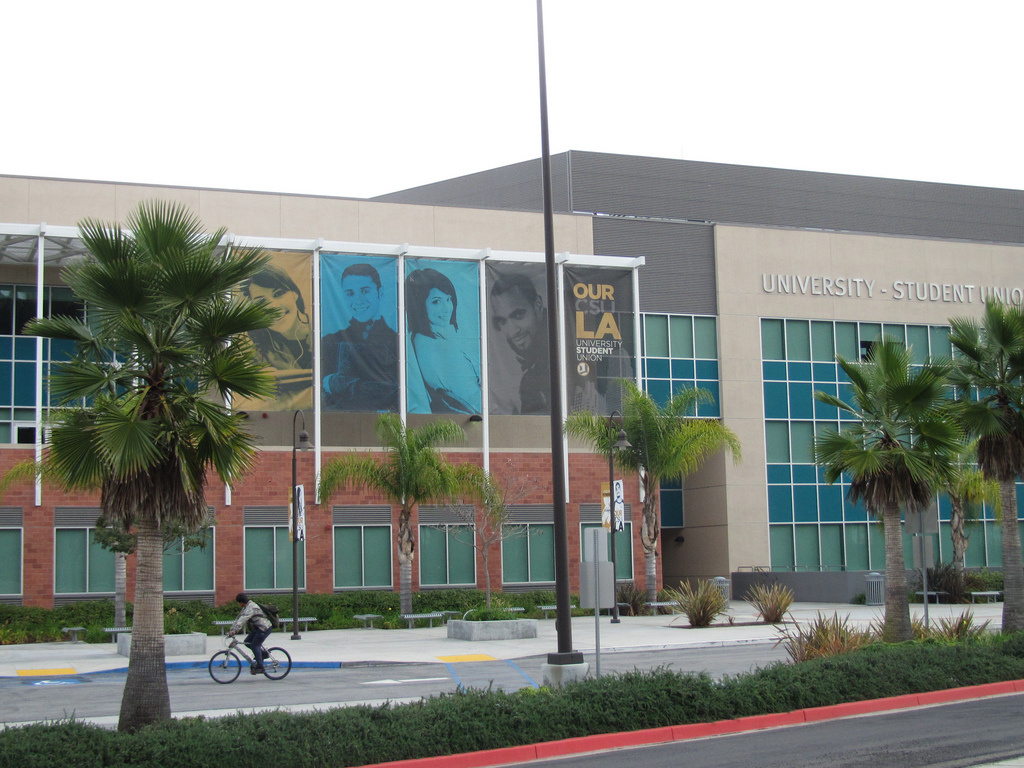 Luckman Center at Cal State University-Los Angeles is seen in this stock photo. Too many qualified fall applicants this year mean the university can't afford to allow new students in the spring, hurting community college transfer students.
