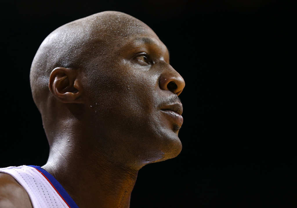 Lamar Odom #7 of the Los Angeles Clippers looks on during a game against the Miami Heat at American Airlines Arena on Feb. 8, 2013 in Miami, Florida.