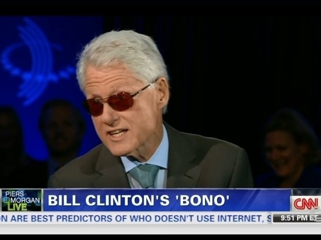 Former President Clinton, channeling his inner Bono, on CNN's Piers Morgan Live.