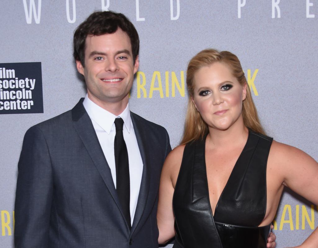 Actors Bill Hader and Amy Schumer attend the