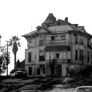 C. 1955 photo of the Brousseau mansion on Bunker Hill, built in 1878. It later became a boarding house.
