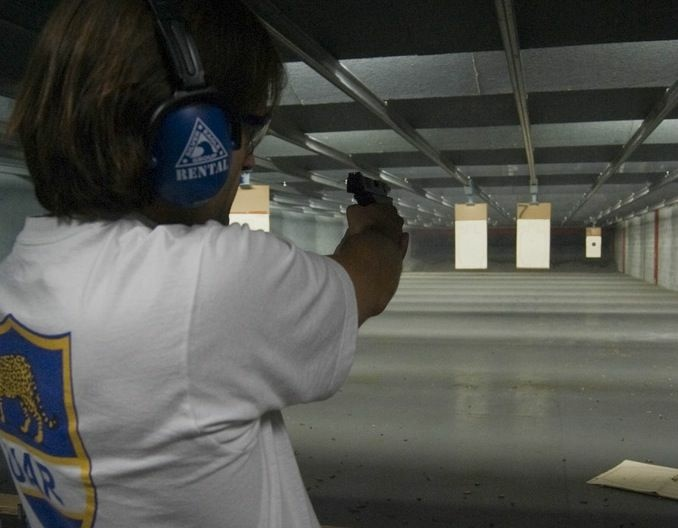 An indoor firing range