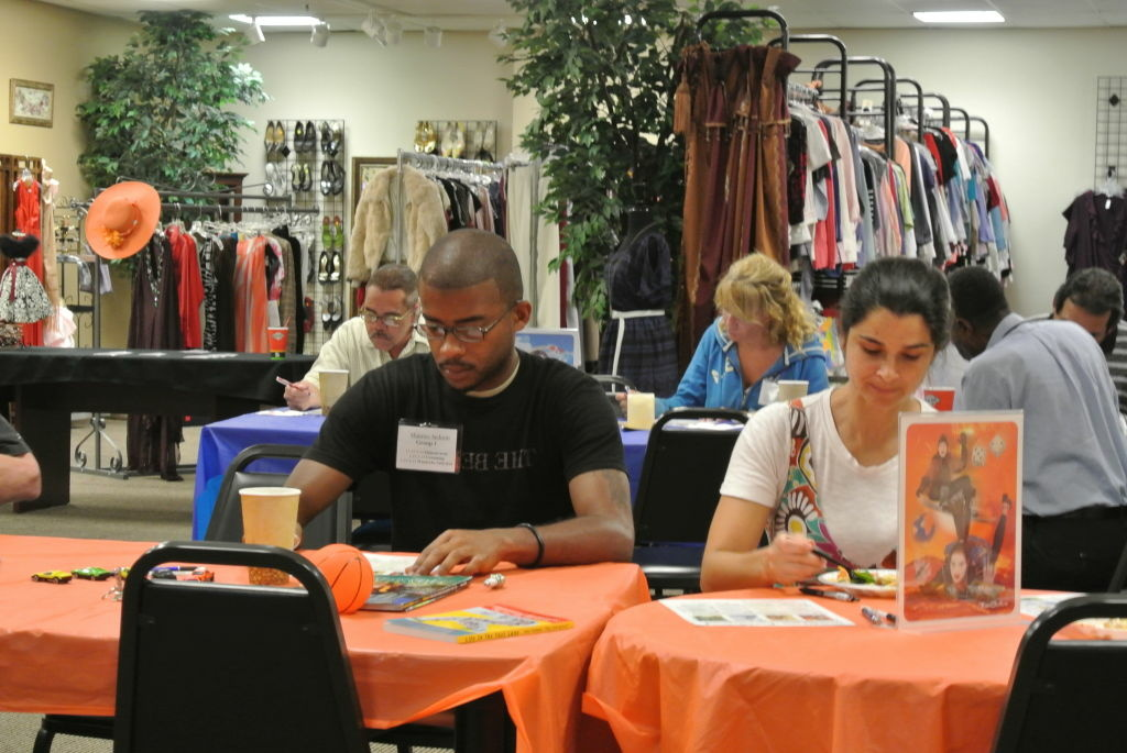 Maurice Jackson and Jessica Bean take a Working Wardrobes workshop.
