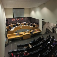 The L.A. Unified School Board meets at the school district's downtown headquarters on March 14, 2017.
