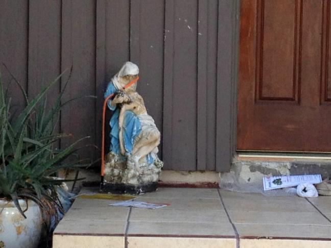 The front door of Nakoula Basseley Nakoula in Cerritos.