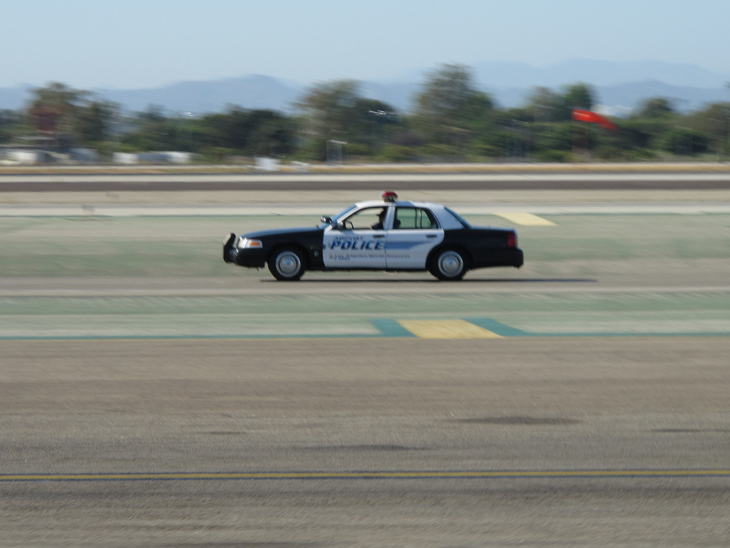 A Los Angles Airport Police patrol car.