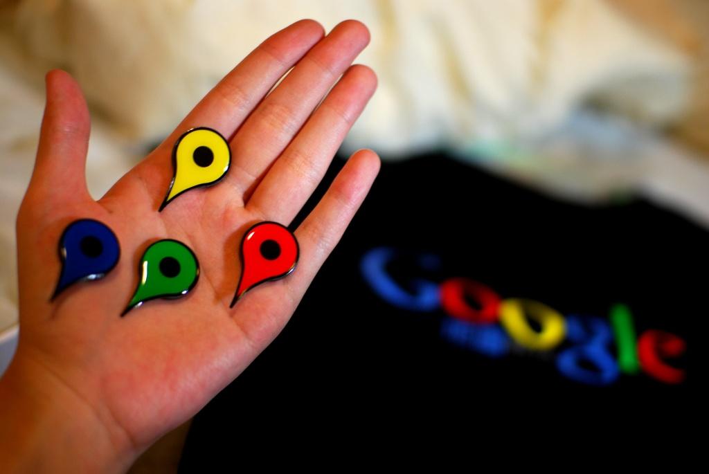 Google map pins.