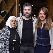"HBO's ""Cries From Syria"" film subject Kholoud Helmi, producer/director Evgeny Afineevsky and SVP of HBO Documentary Films Nancy Abraham attend the HBO Documentary Films Party at Sundance 2017."