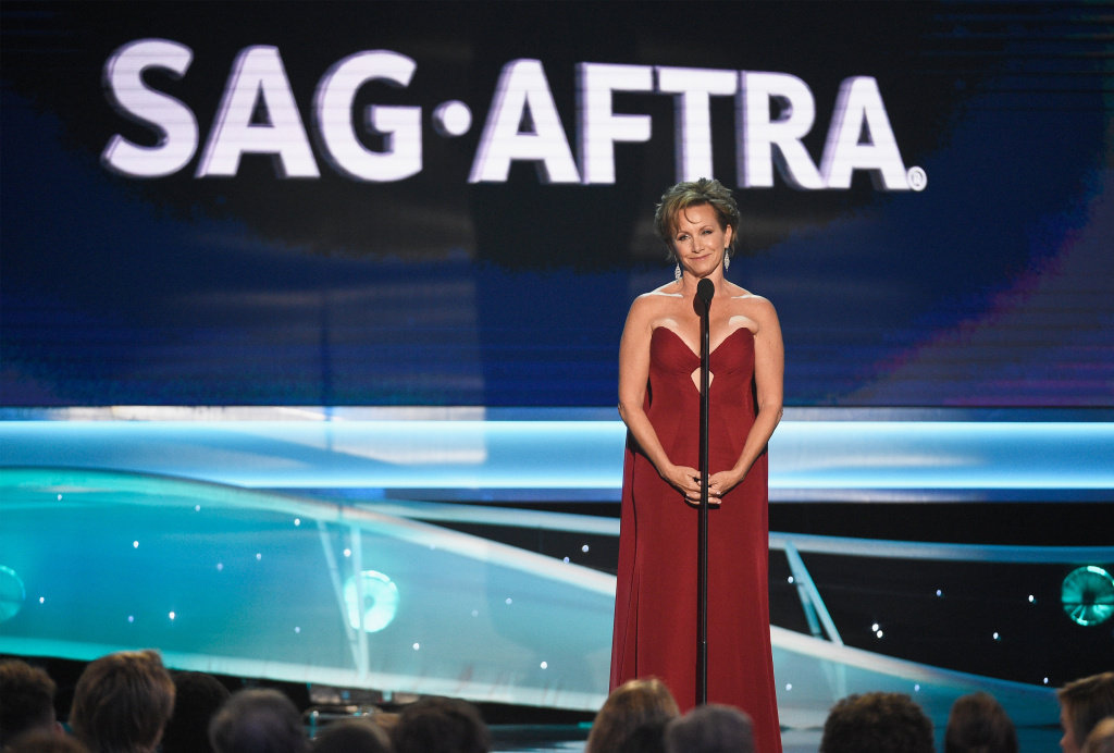 President of SAG-AFTRA Gabrielle Carteris onstage during the 24th Annual Screen Actors Guild Awards at The Shrine Auditorium on January 21, 2018 in Los Angeles, California.