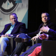 Pastor Jimmy Scroggins (right) tells other Southern Baptist leaders to be compassionate to gay people during a leadership summit in April.