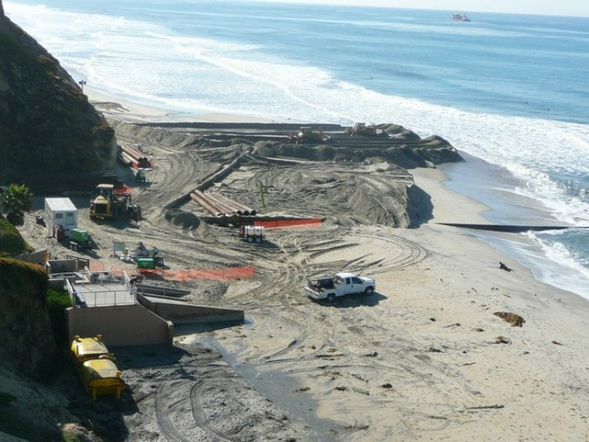 beach replenishment fronteras