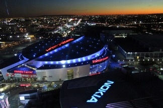 The proposed location for a new football stadium, next to the Staples Center and Nokia Theatre in downtown, to be used for a Los Angeles NFL team.