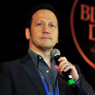 US Hollywood actor and stand-up comedian Rob Schneider gives a performance during 'Black Dog - Comedy Evenings' in Bangalore on November 24, 2011. Schneider began his Indian tour in Pune on November 23 and is scheduled to perform in Kolkata on November 25, Gurgaon on November 26, and Mumbai on November 27. AFP PHOTO/Manjunath KIRAN (Photo credit should read Manjunath Kiran/AFP/Getty Images)