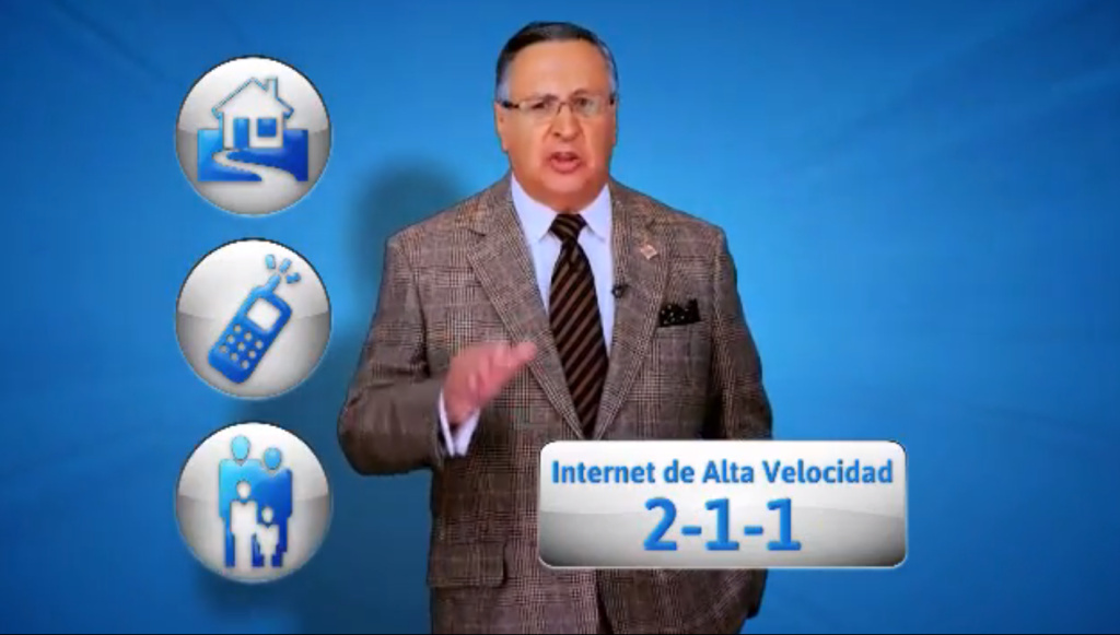 The Spanish-speaking announcer for the Los Angeles Dodgers is the new face of a campaign urging Latinos to get high-speed Internet.