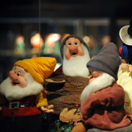 A statue of Snow White and the Seven Dwa