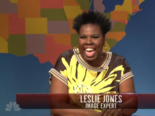 "Leslie Jones played an ""image expert"" on last weekend's ""SNL."""