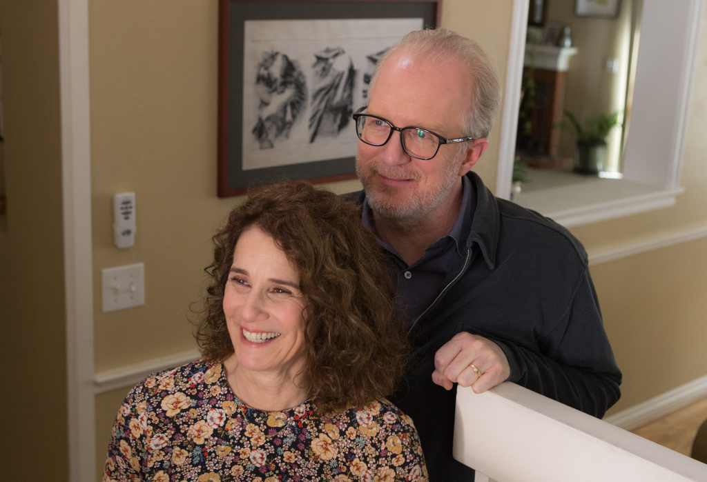 Debra Winger and Tracy Letts in a scene from