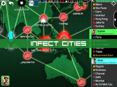 Screenshot of the digital board game