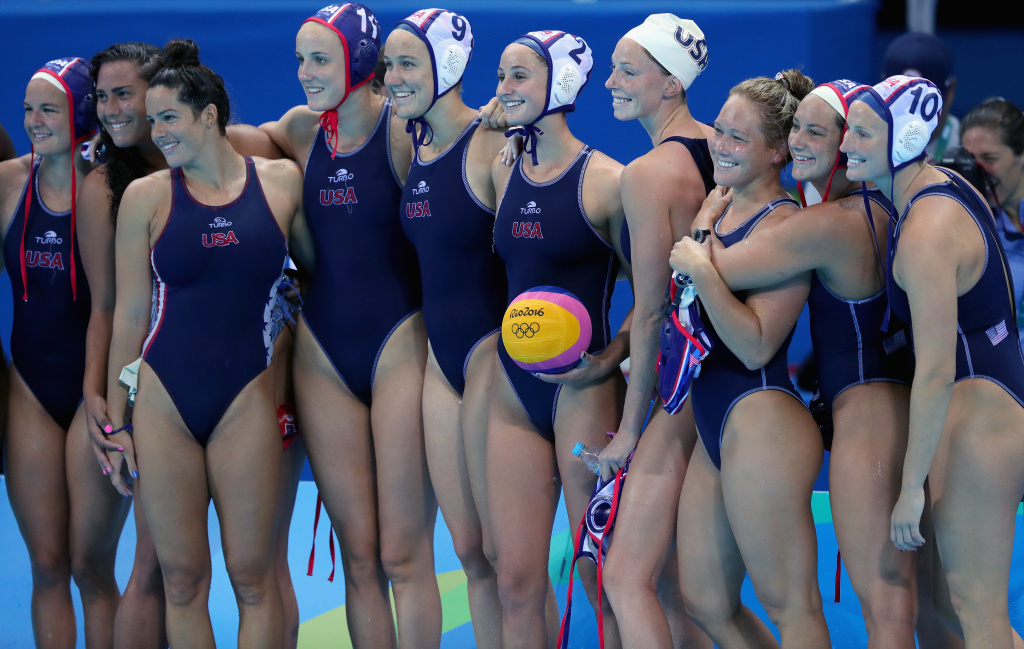 Slideshow U S Women S Water Polo Gold Has Socal Written