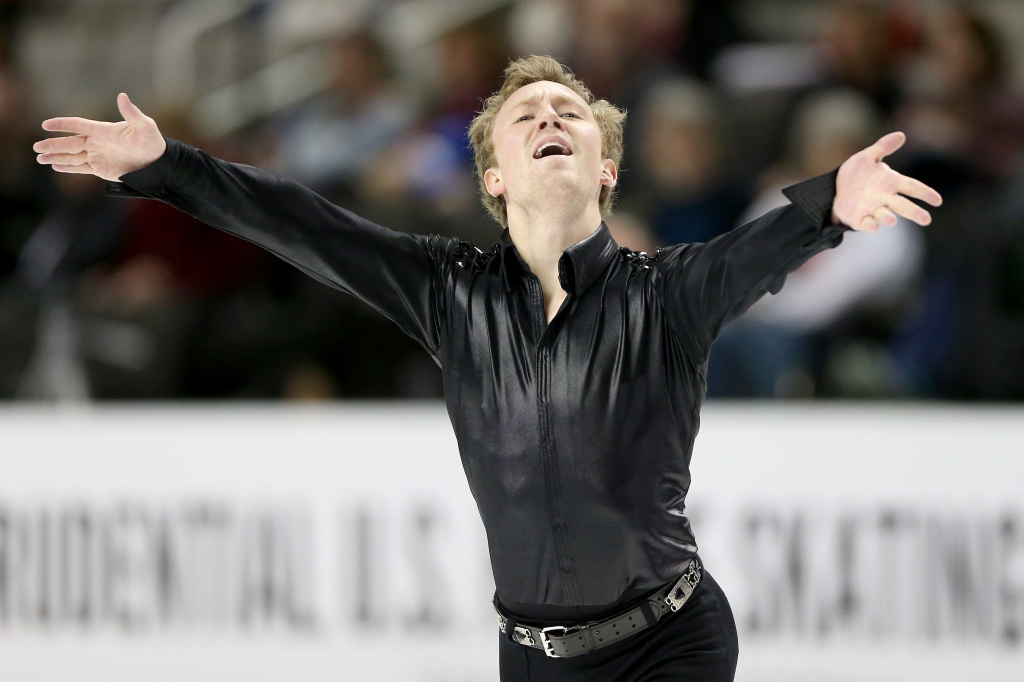 Ross Miner competes in the Men's Short Program during the 2018 Prudential U.S. Figure Skating Championships at the SAP Center on January 4, 2018 in San Jose, California.