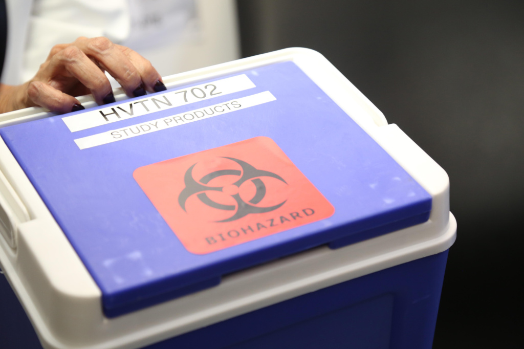 A pharmacist brings the HVTN 702 vaccine to a clinic to administer to participants in a trial in South Africa. The hope was that the vaccine would prevent HIV.