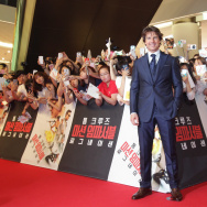 Tom Cruise attends the Korea Premiere of 'Mission: Impossible - Rogue Nation' at the Lotte World Tower Mall at  on July 30, 2015 in Seoul, South Korea.