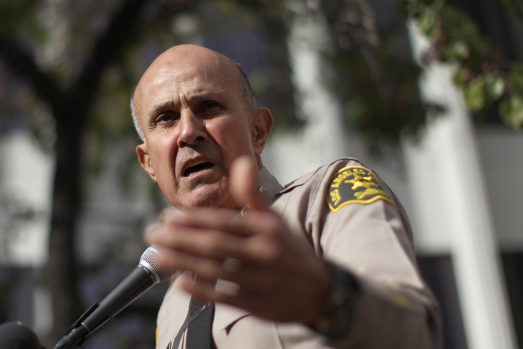 Los Angeles County Sheriff Lee Baca announces his unexpected retirement on January 7, 2014 in Los Angeles, California.