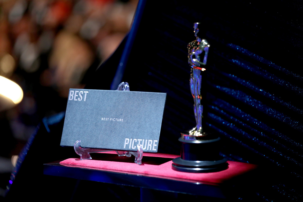 In this handout provided by A.M.P.A.S., A view of the statuette at the 90th Annual Academy Awards at the Dolby Theatre on March 4, 2018 in Hollywood, California.
