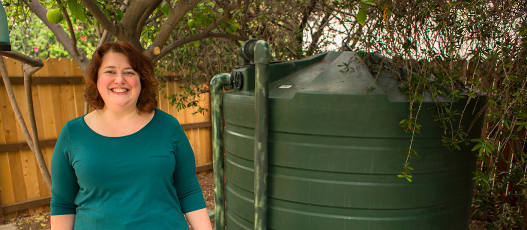 To help the city handle climate-change effects like droughts and flooding, LADWP offers rebates on residential water tanks that can hold up to 1,000 gallons of water captured on site.