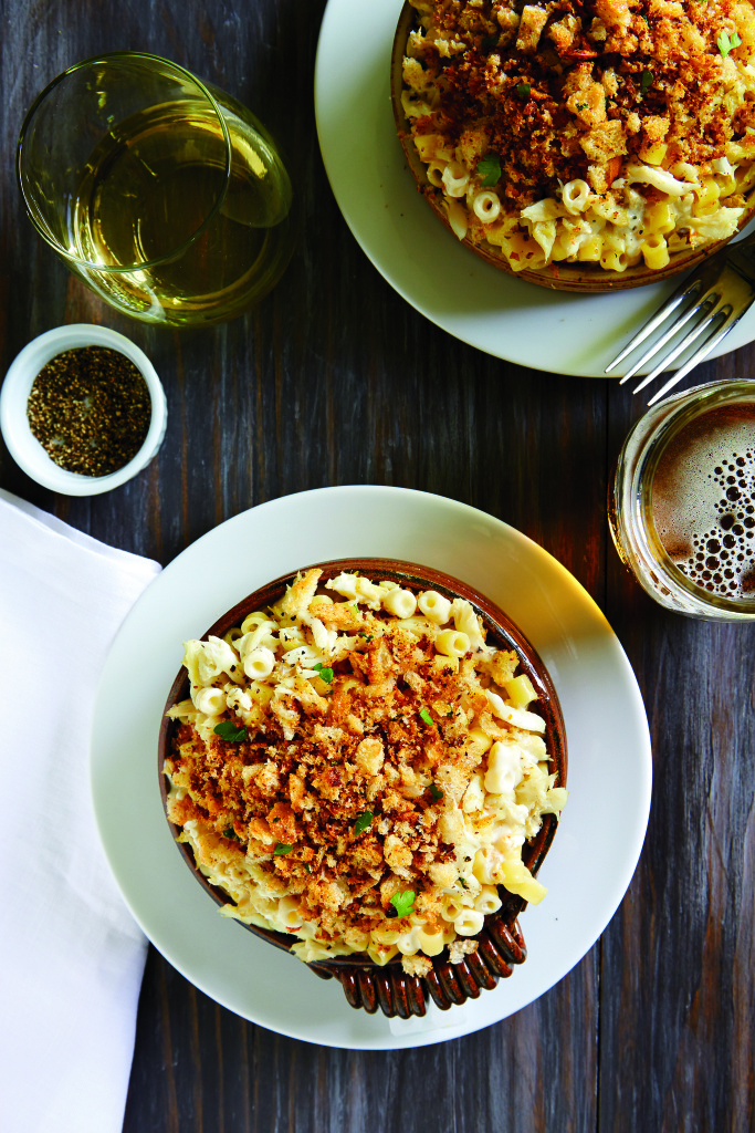 Dungeness crab mac n cheese, as seen in Brigit Binns' cook book, 'Sunset Eating Up the West Coast.'