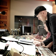"""Composer Andrew Lockington oversees a recording session for the film """"San Andreas."""""""