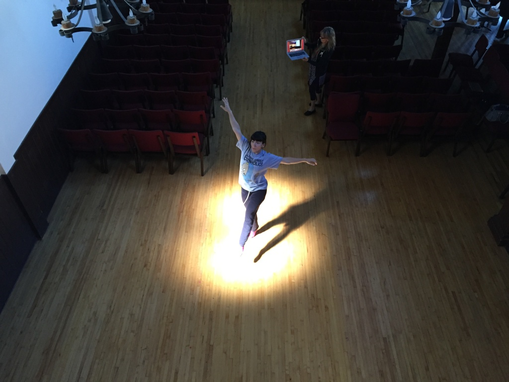 Teresa Barcelo rehearses for her role as Sophie in the Heidi Duckler Dance Theatre production of
